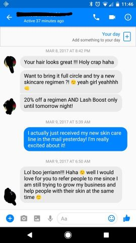 A message a teammate of mine received after her new haircut.